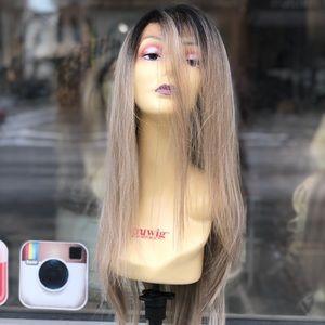 Ash Blonde Ombré 13X6 Freepart Swisslace Wig 2020